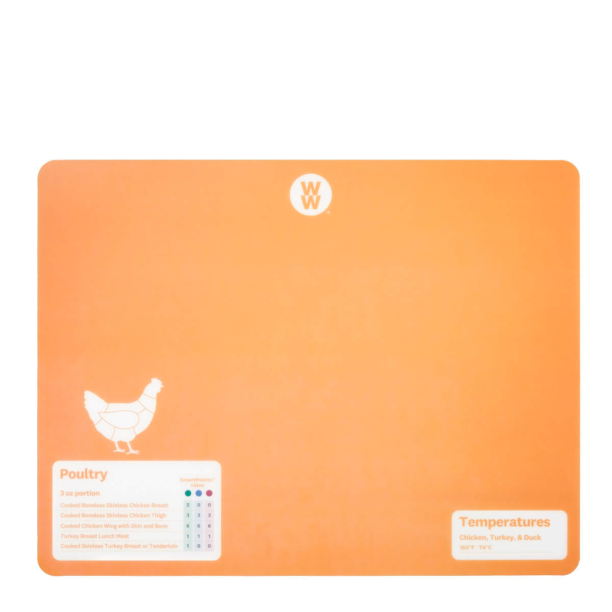 WW Color-Coded Flexible Cutting Mats - orange