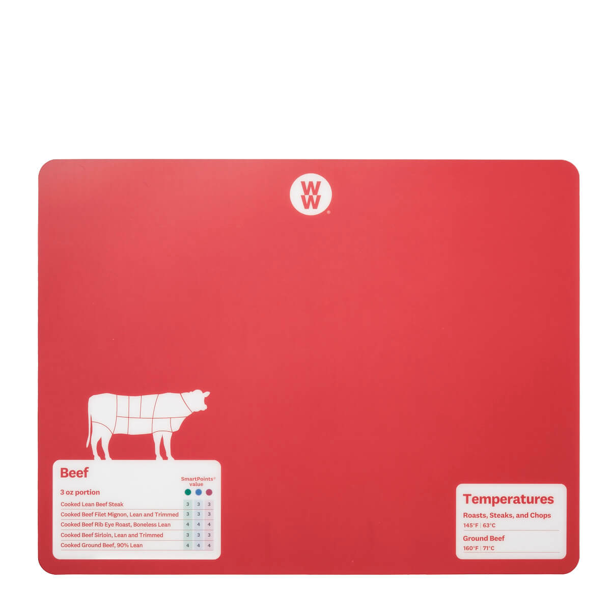 WW Color-Coded Flexible Cutting Mats - red