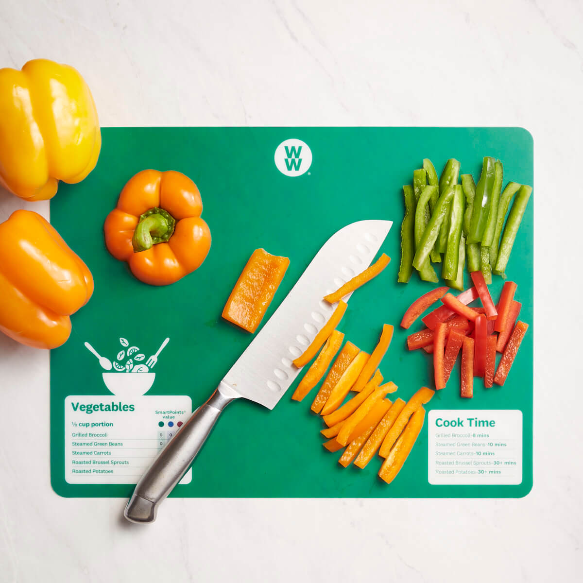 WW Color-Coded Flexible Cutting Mats - green
