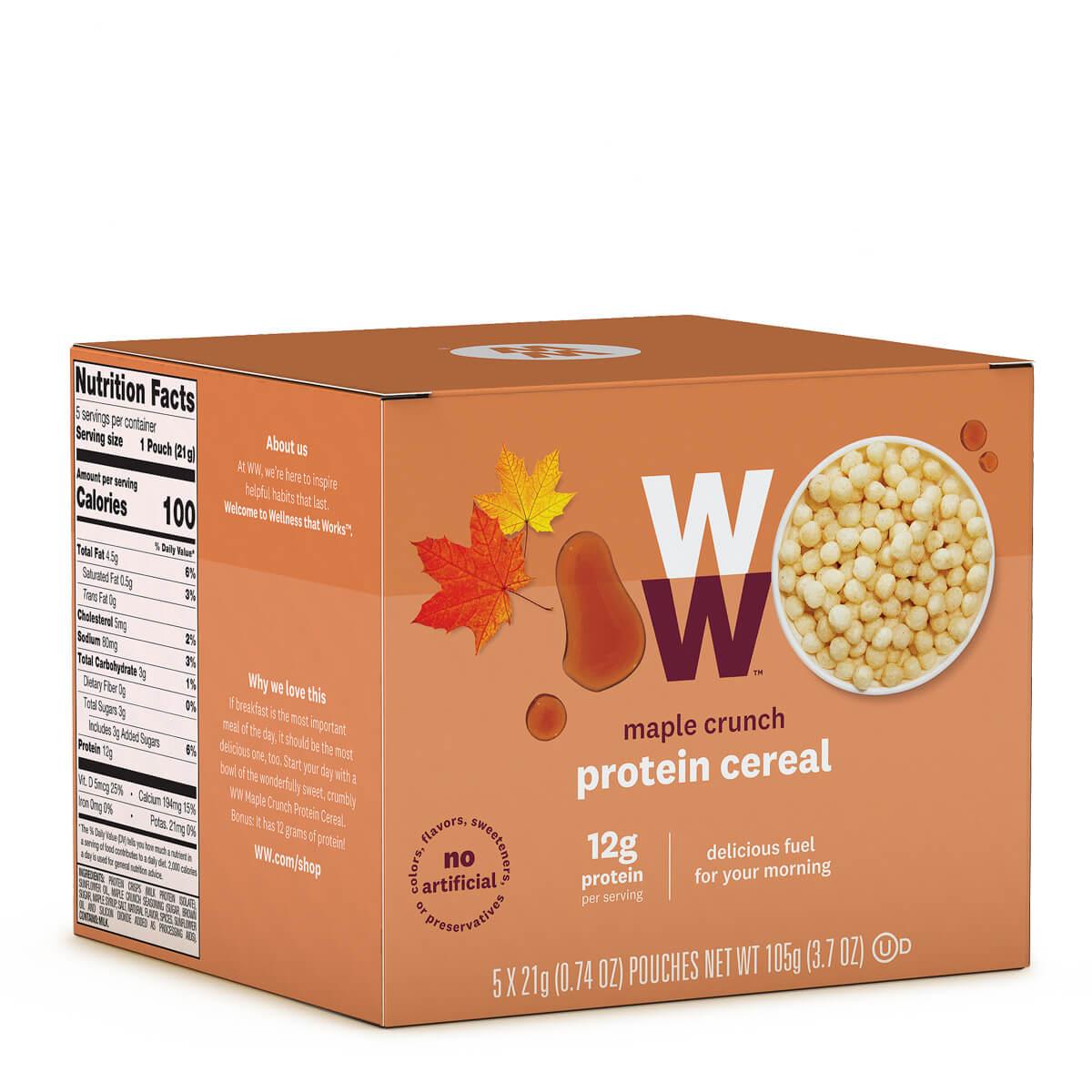 Maple Crunch Protein Cereal - corner