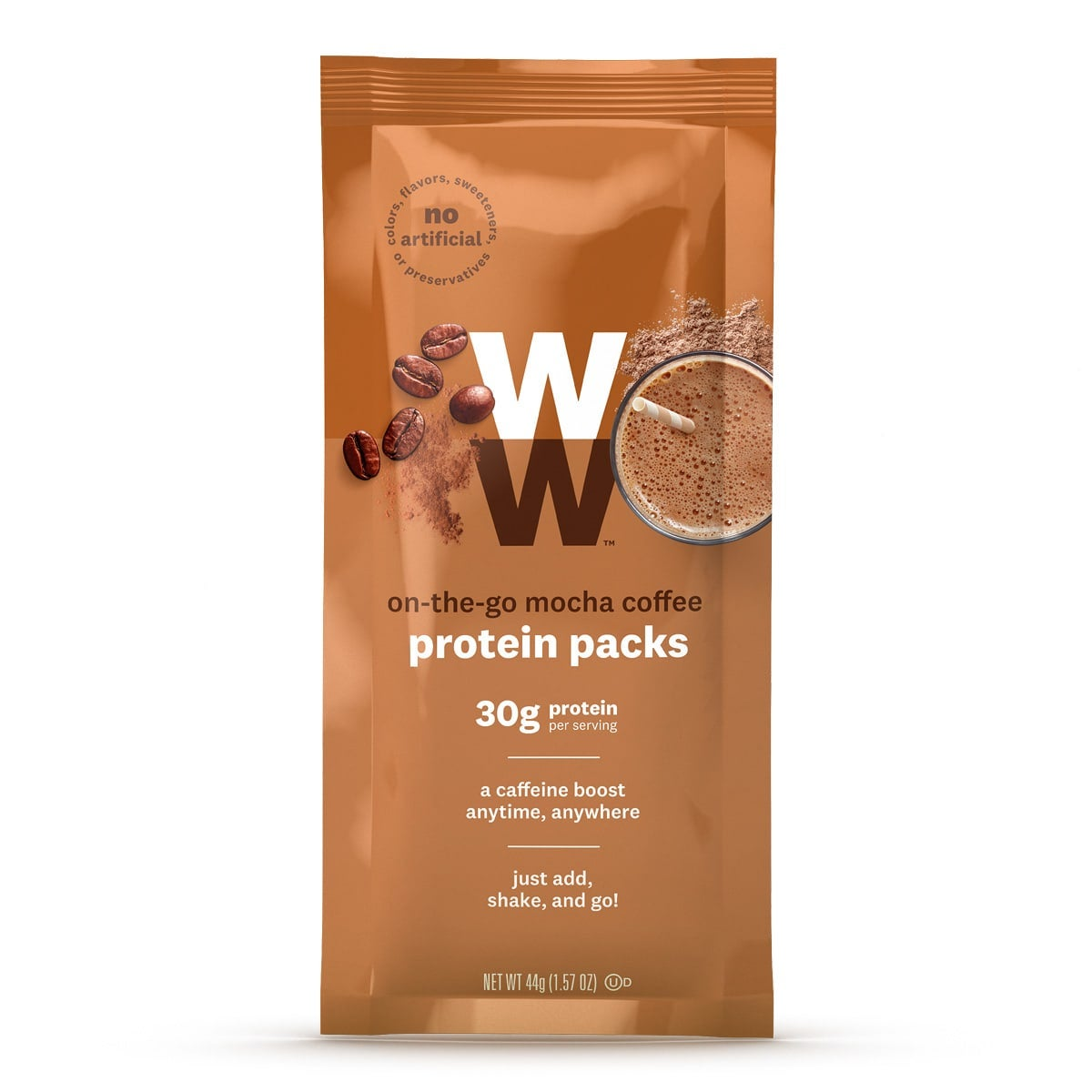 On the Go Mocha Coffee Protein Pack - front