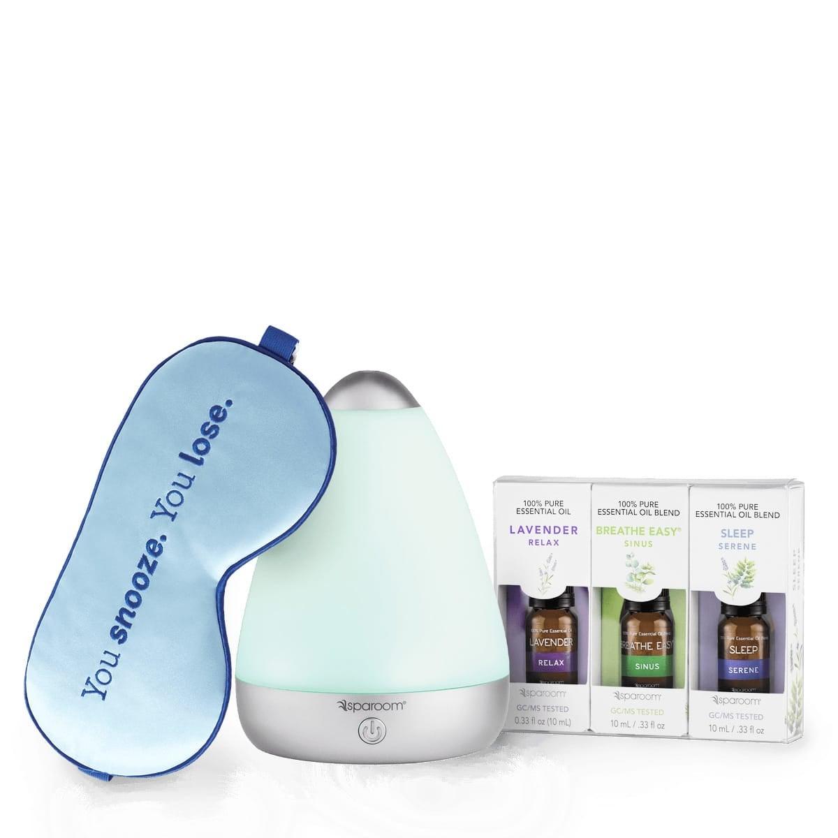 Sleep Soundly Bundle - eye mask, essential oil, diffuser set