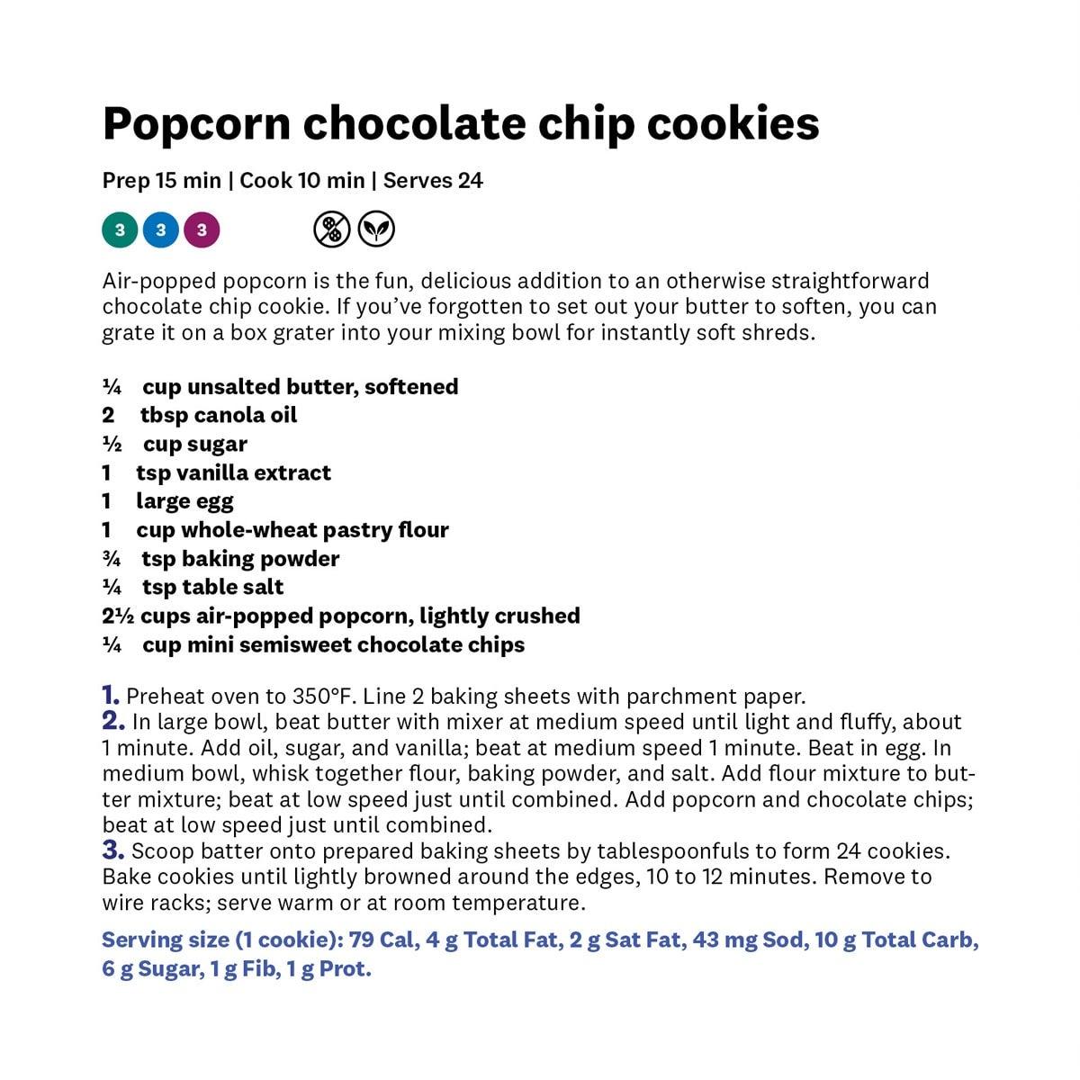 WW by Dash Fresh Pop Popcorn Maker - cookie recipe with text