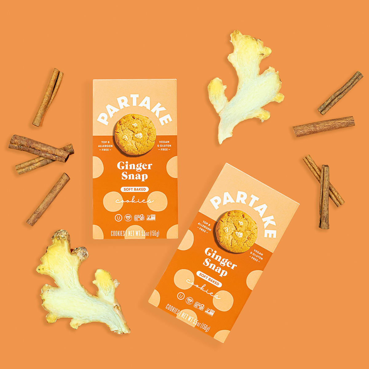 Partake Ginger Snap Soft Baked Cookies, lifestyle