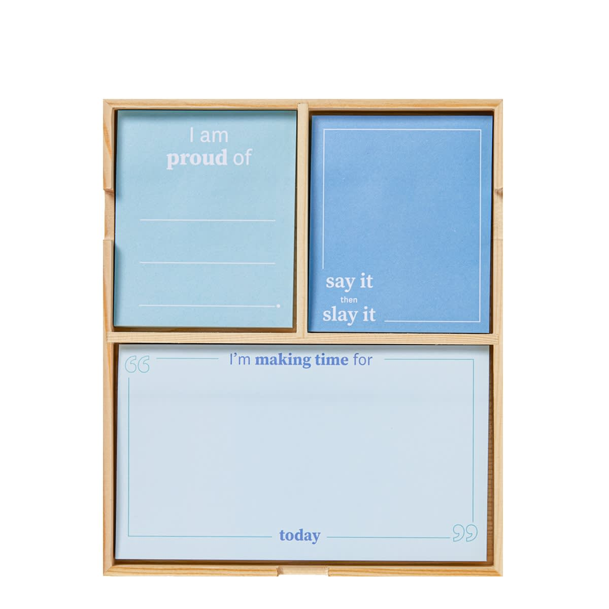 Daily Intentions Notepad - Blue