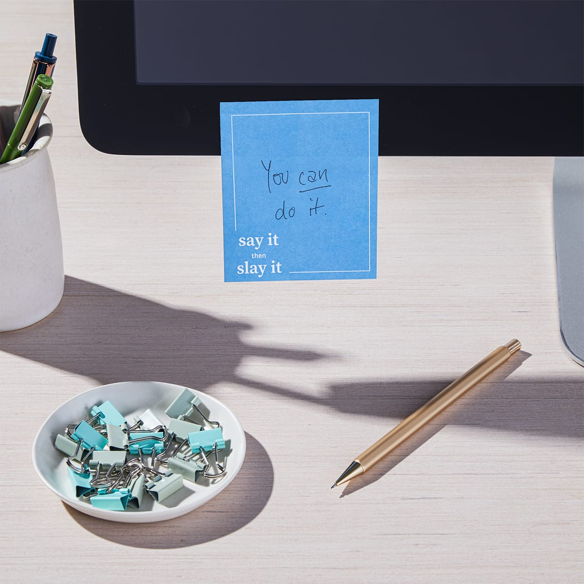 Daily Intentions Notepad - Blue - lifestyle 3