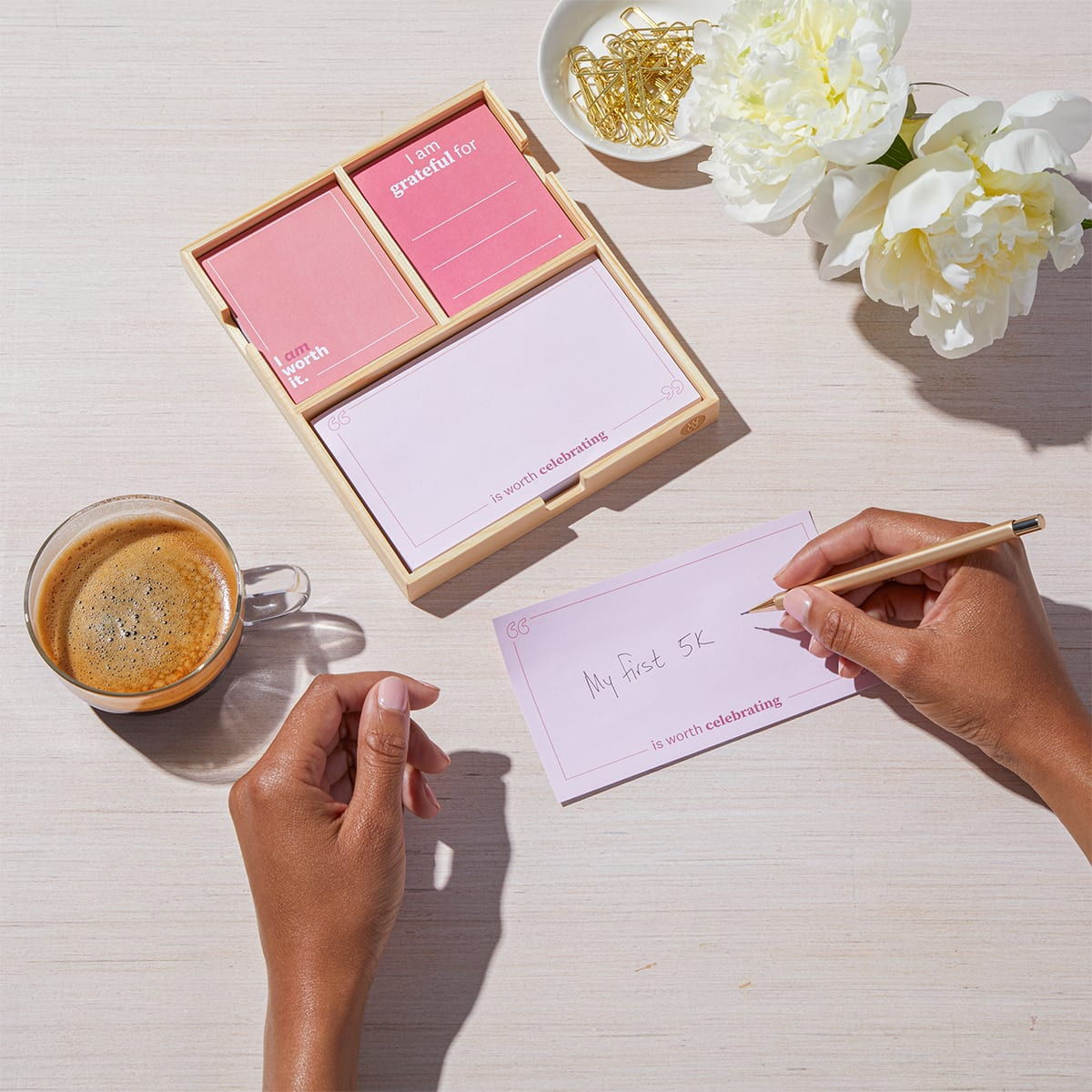 Daily Intentions Notepad - Pink - lifestyle