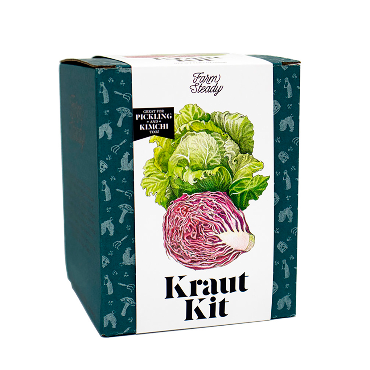 Front view of FarmSteady Kraut Kit. Great for pickling and kimchi too.