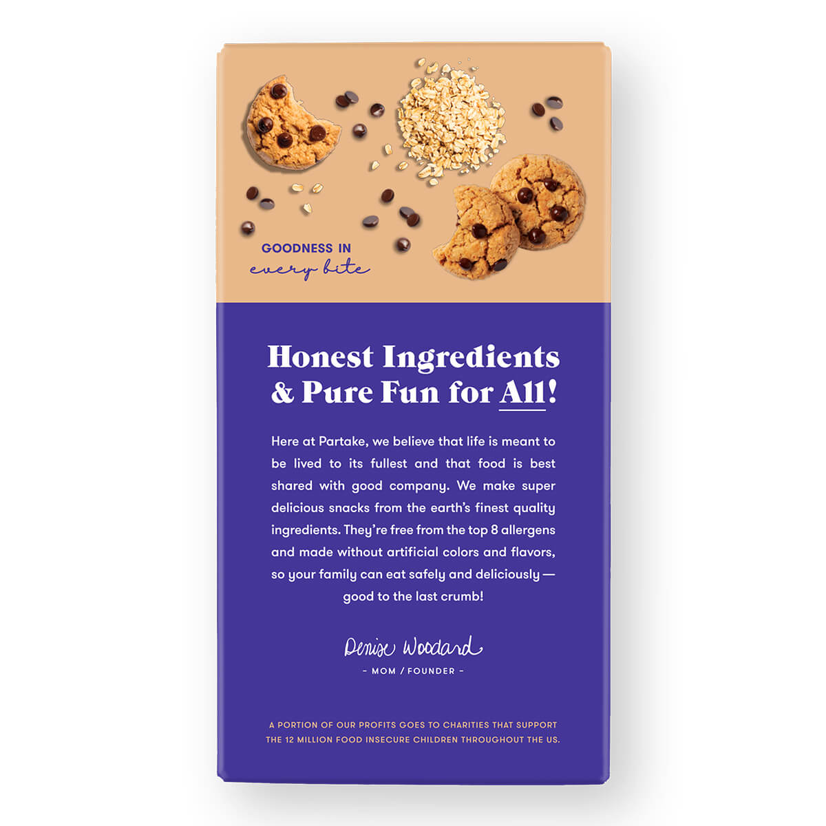 Partake Crunchy Chocolate Chip Cookies - back