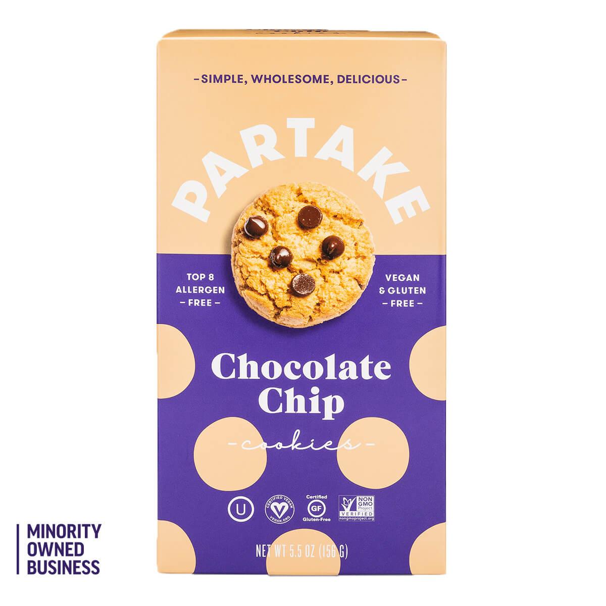 Partake Crunchy Chocolate Chip Cookies