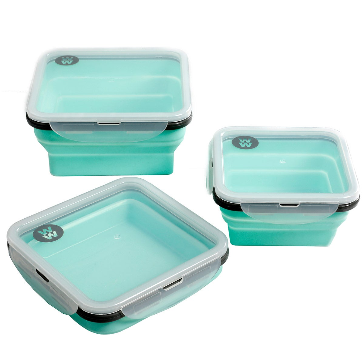 3-Piece Collapsible Silicone Lunch Containers
