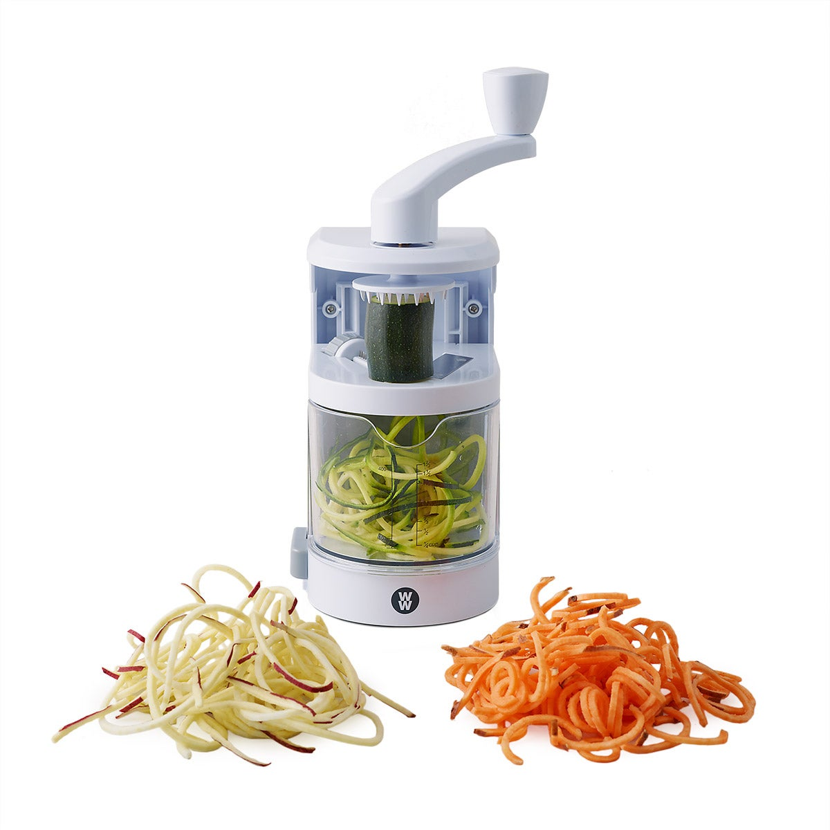 3-Blade Built-In Dial Spiralizer w/ Container