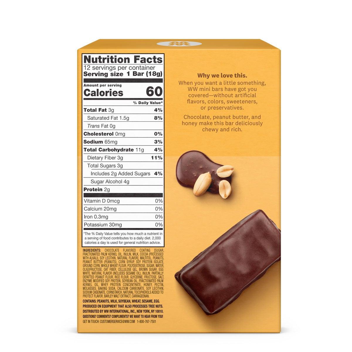 Chocolate Mini Bar Supreme Six Pack - back of box 2