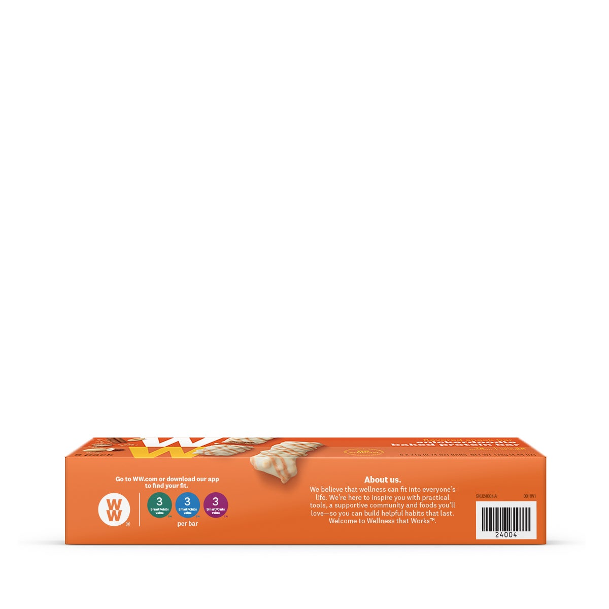 Snickerdoodle Baked Protein Bar - side of box