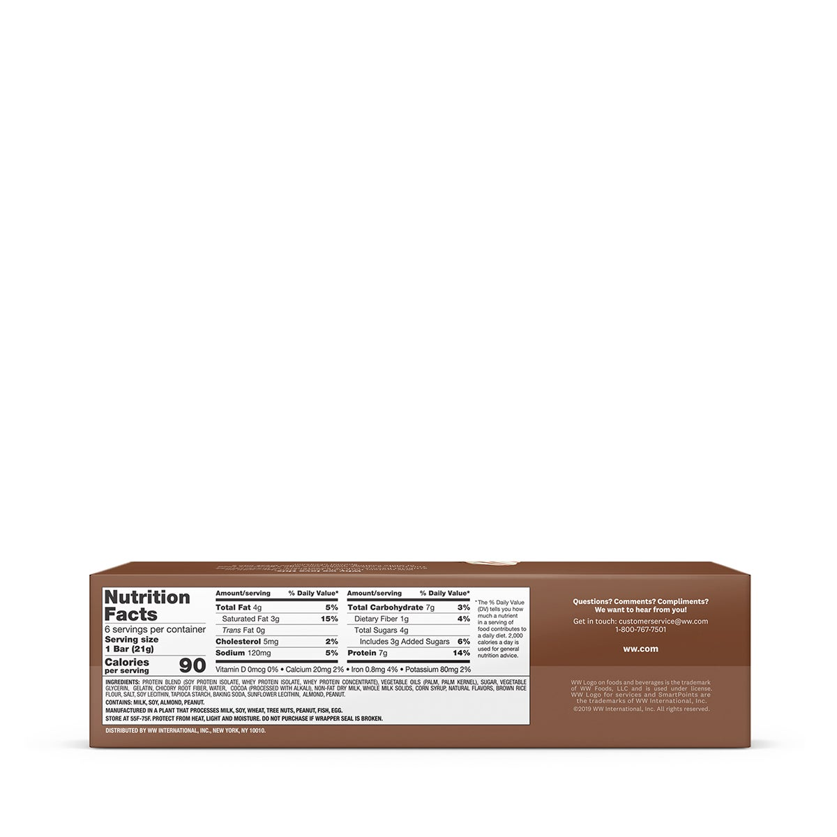 Black and White Baked Protein Bar - back of box
