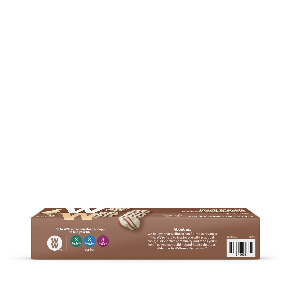 Black and White Baked Protein Bar - side of box