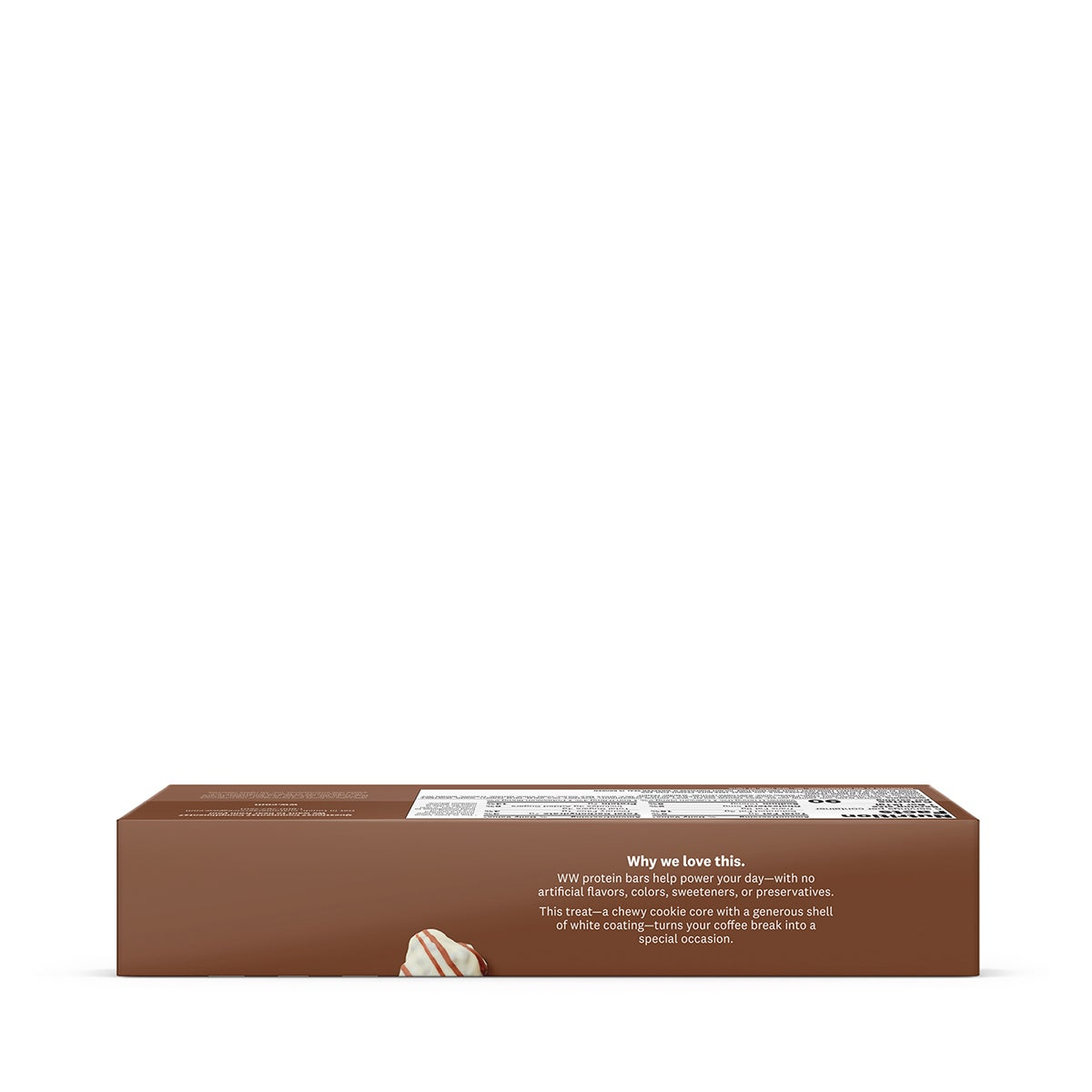 Black and White Baked Protein Bar - side of box 2
