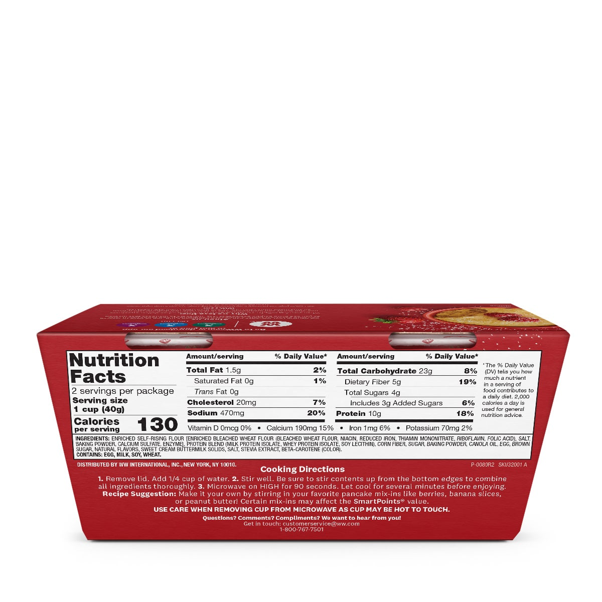 Buttermilk Protein Pancake Mix - back of box
