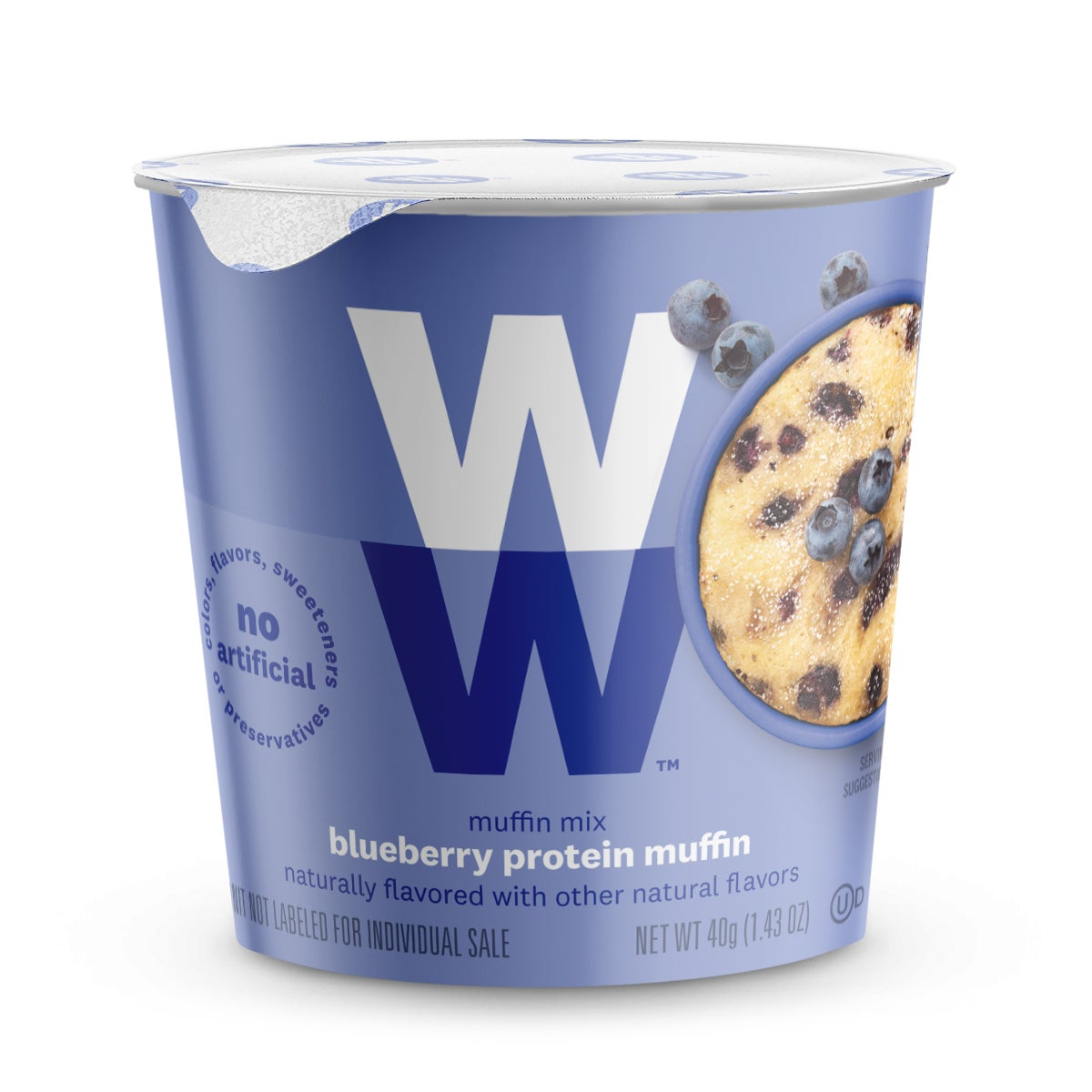 Blueberry Protein Muffin Mix - front of cup