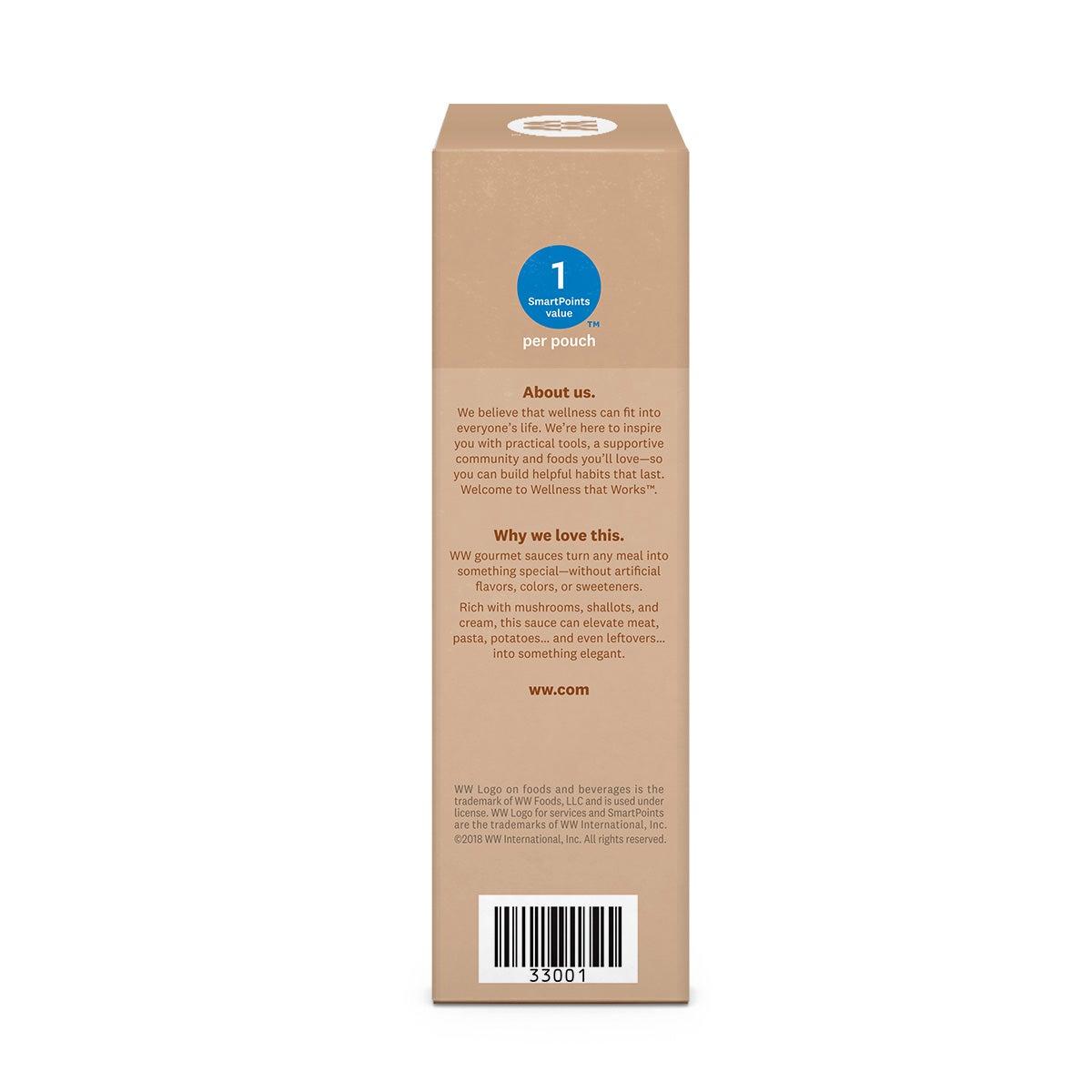 Creamy Mushroom Gourmet Sauce - side of box 2