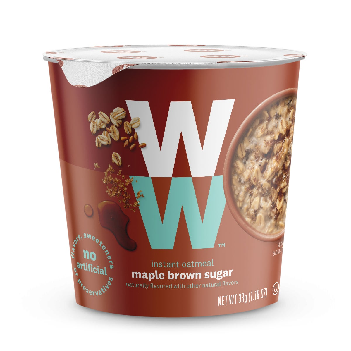 Maple Brown Sugar Oatmeal - front of cup