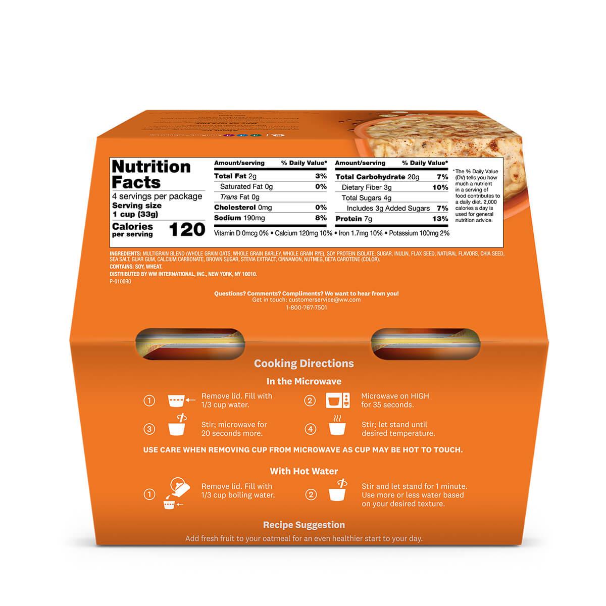 Pumpkin Spice Oatmeal - back