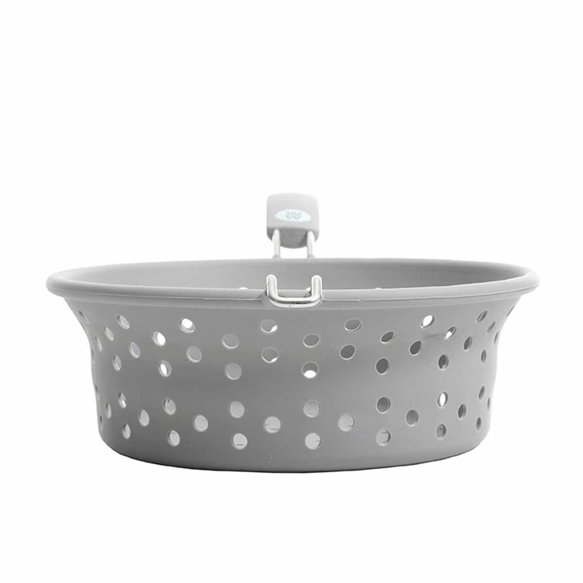 Silicone Steamer Basket & Colander - side