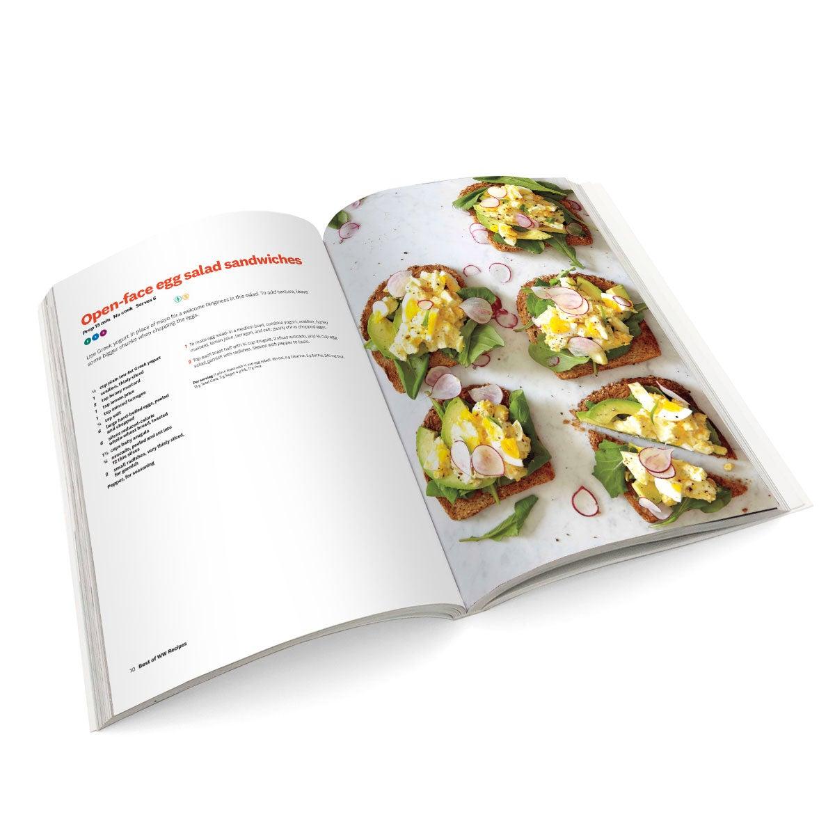 Best of WW Recipes Cookbook - Open Spread