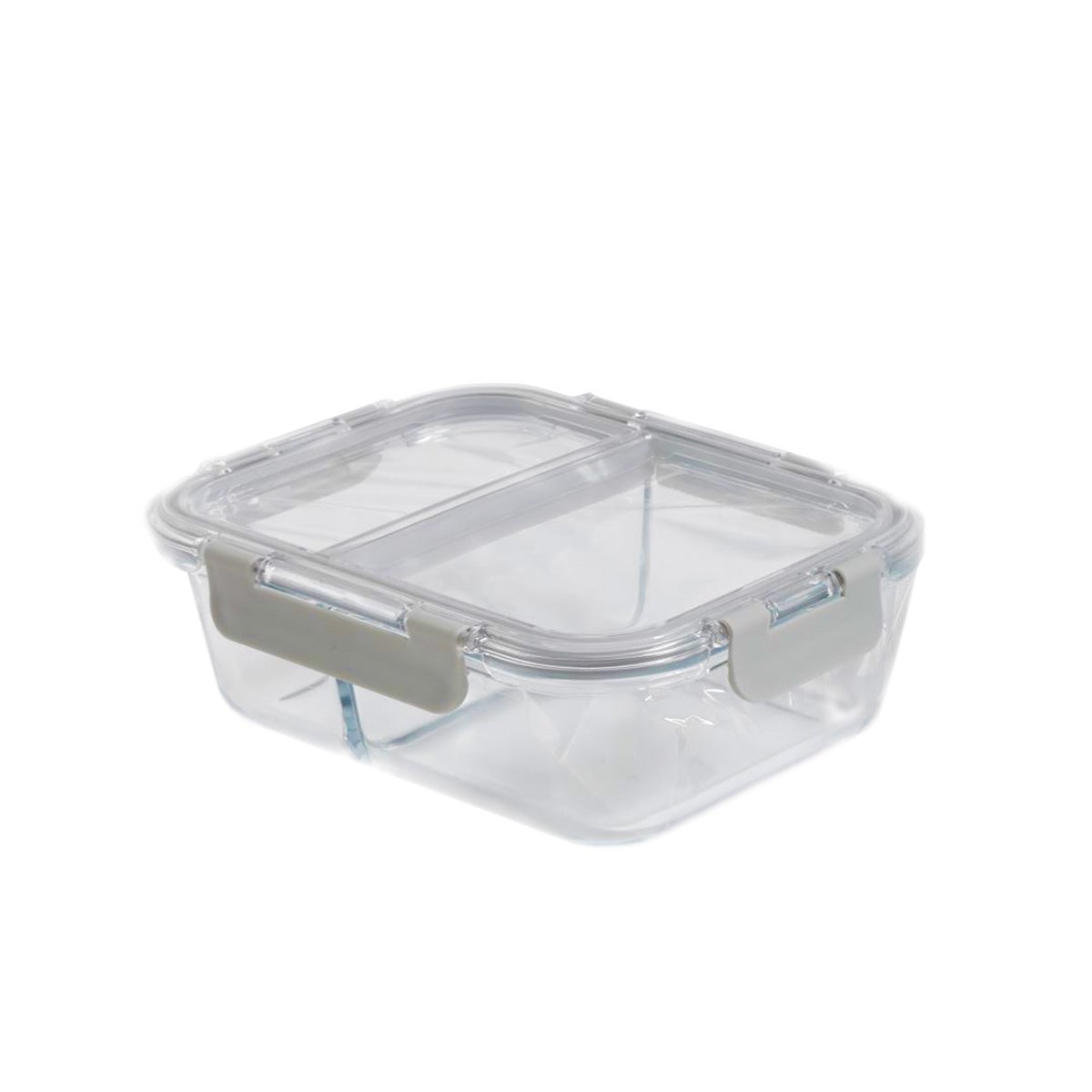 """Portion Control Lunch Container w/ Dividers (7.75"""" x 5.75"""" 2.25"""")"""