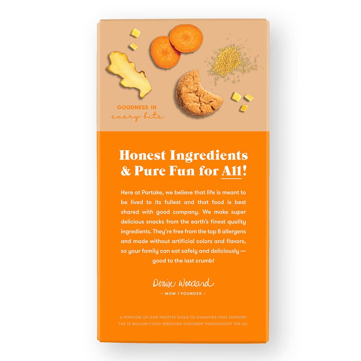 Partake Crunchy Ginger Snap Cookies - back