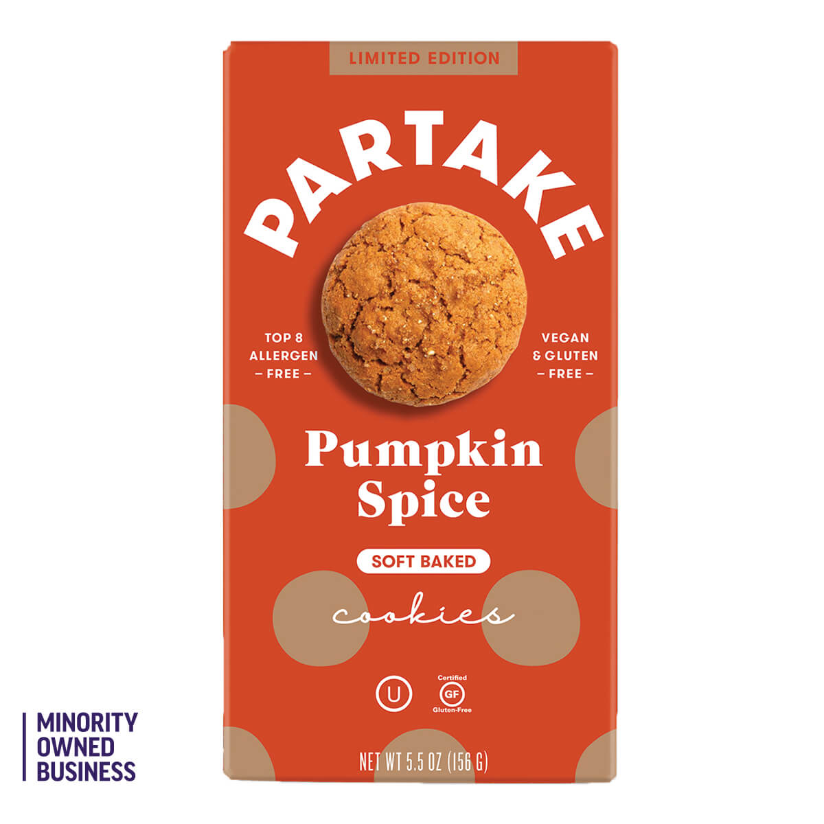 Partake Pumpkin Spice Cookie