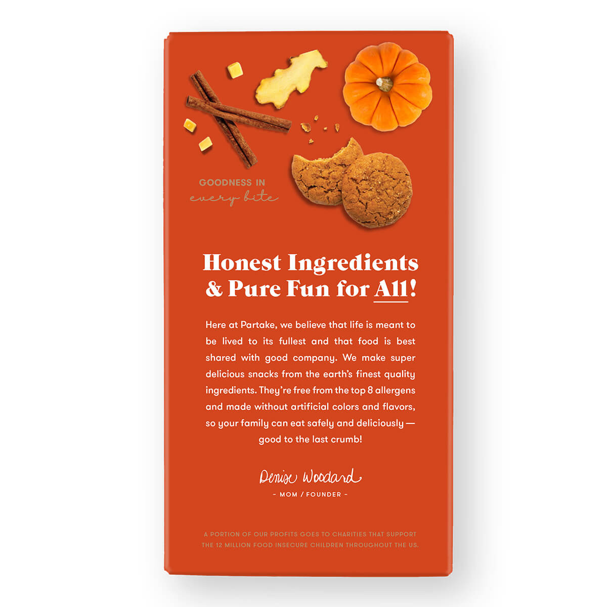 Partake Soft Baked Pumpkin Spice Cookies - back